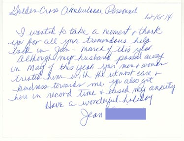 Letter from Jean